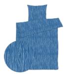 sengetøj forrest blå