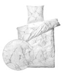 sengetøj - Marmor hvid