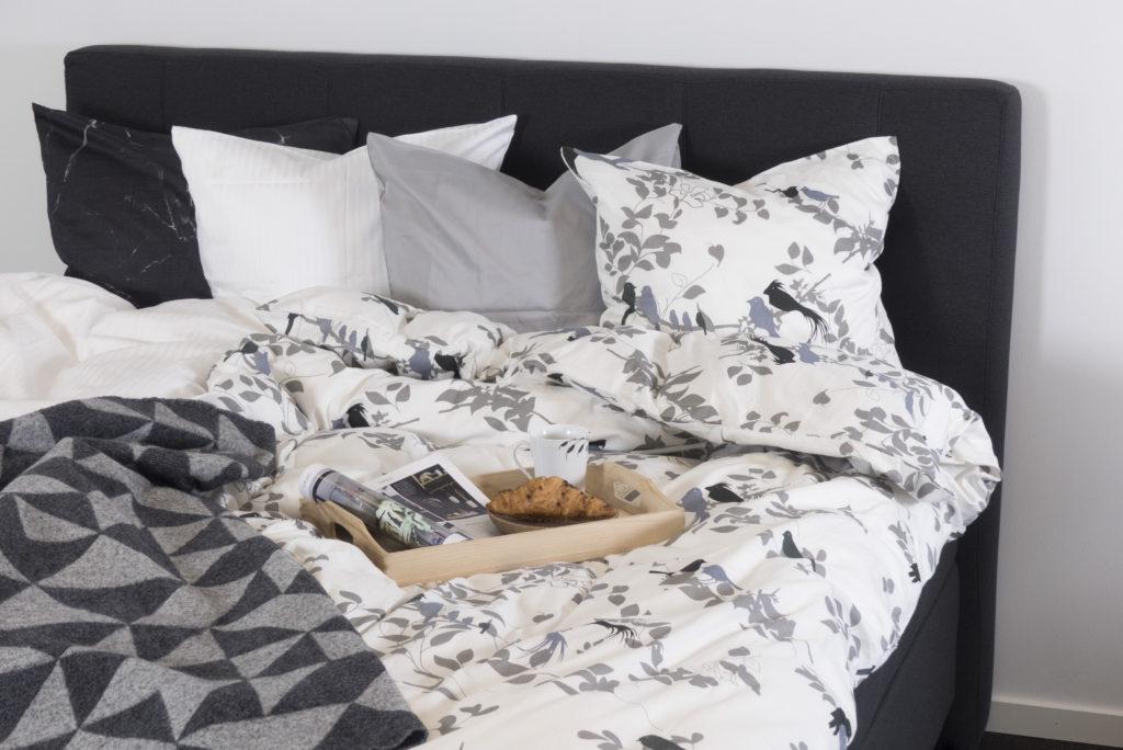 sengetøj, birds in trees, luna denmark, bomuldssatin, billigt sengetøj