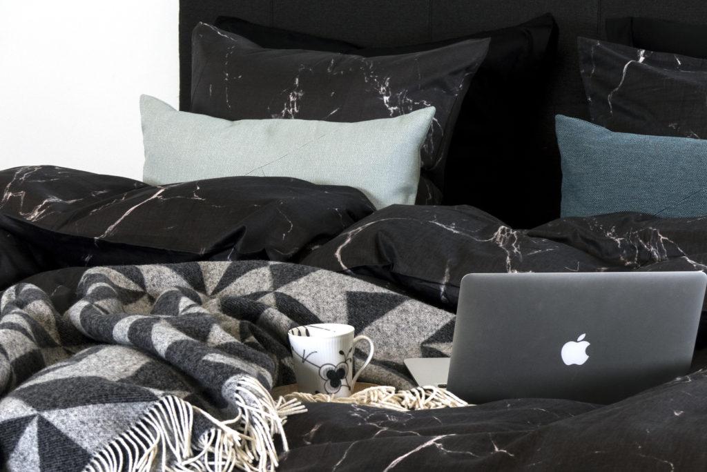 sengetøj, marmor, bomuldssatin, luna denmark