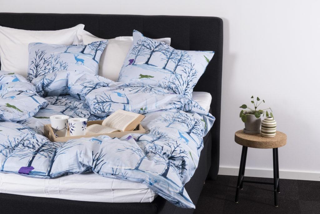 bomuldssatin sengetøj, sengetøj, luna denmark